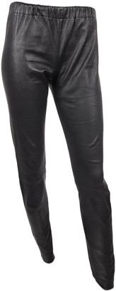 Bel Air Black Leather Trousers