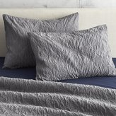 CB2 Set Of Two Estrela Matelasse Standard Shams