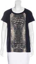 Magaschoni Wool Alligator Print Top
