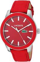 Lacoste Men's '12.12' Quartz Stainless Steel and Nylon Casual Watch, Color: (Model: 2010920)