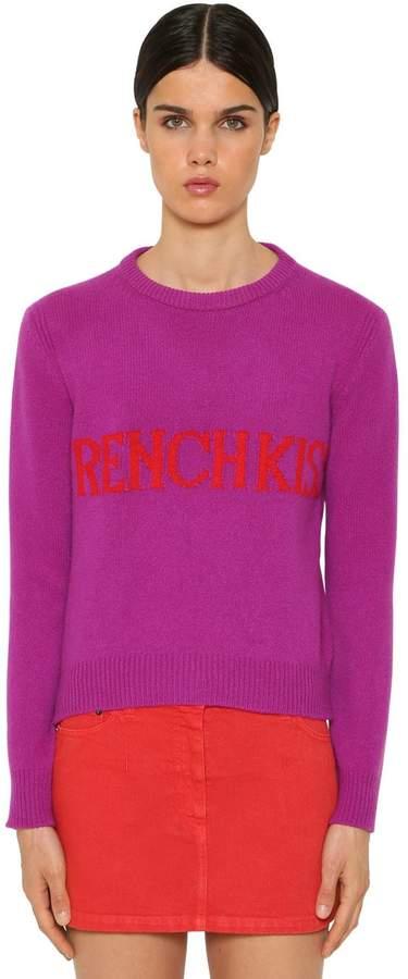 Alberta Ferretti French Kiss Wool Intarsia Sweater