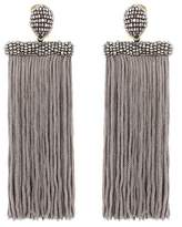 Oscar de la Renta Clip-on tassel earrings