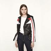 Maje Tricolour leather jacket