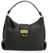Salvatore Ferragamo Leather Hobo - Black