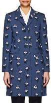 Thom Browne WOMEN'S TULIP-EMBROIDERED WOOL-MOHAIR OVERCOAT