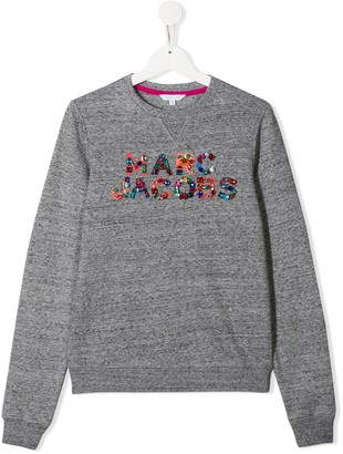 Little Marc Jacobs TEEN embellished logo sweater