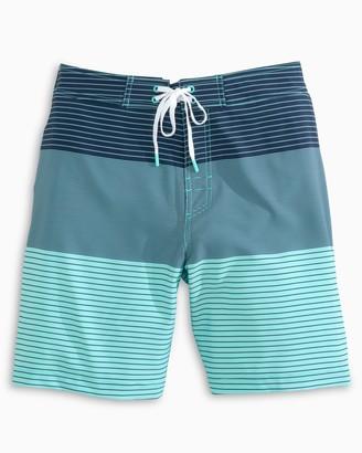 Southern Tide Blue Ombre Striped Swim Short