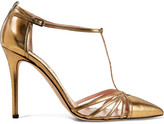 Sarah Jessica Parker Carrie Metallic Leather Pumps - Gold