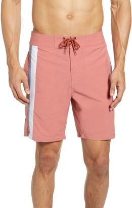 Faherty Toro Stripe Board Shorts