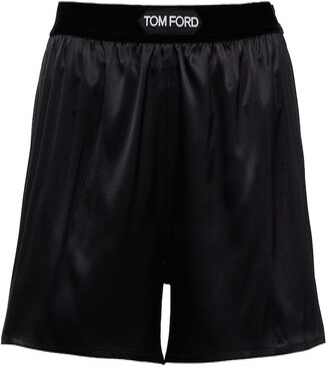 Tom Ford Stretch-silk satin shorts