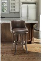 Hillsdale Furniture Napa Valley 40 in. Swivel Cushioned Bar Stool in Dark Brown Cherry Finish