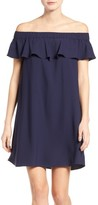 Chelsea28 Women's Off The Shoulder Crepe Dress
