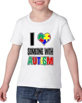 Artix I Love Someone with Autism - Autism Awareness Autism Speaks Heavy Cotton Toddler Kids T-Shirt Tee Clothing
