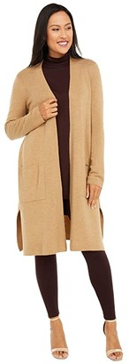 Eileen Fisher Straight Long Cardigan (Honey) Women's Clothing
