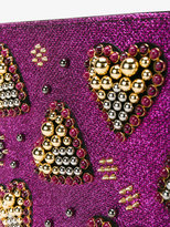 Christian Louboutin heart embellished clutch