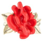 Oscar de la Renta Resin Coral Motif Bangle