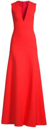 SOLACE London Seine V-Neck Sleeveless Gown