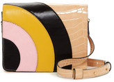 Orla Kiely Bonnie Croc Embossed Leather Applique Crossbody