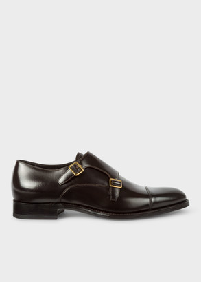 Paul Smith Men's Dark Brown Calf Leather 'Albemarle' Double Monk-Strap Shoes