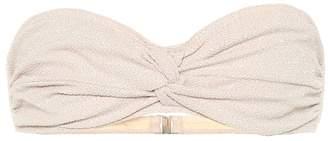 Jonathan Simkhai Metallic bandeau bikini top