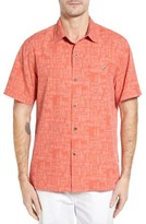 Tommy Bahama Men's Big & Tall Thatch Of The Day Silk Blend Camp Shirt