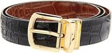 Florsheim Men's Reversible Belt Croc Embossed 30MM