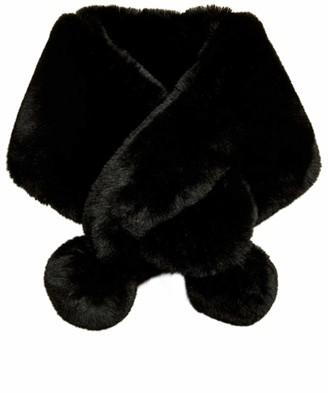 Ted Baker Women's Zalie Faux Fur Pom Snood Black One Size