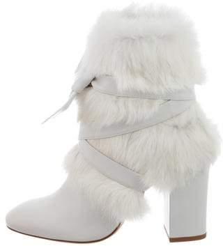 Alexandre Birman Lora Fur Ankle Boots
