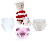 Under the Nile Infant 4-Piece Training Pants & Tilly Stuffed Animal Set