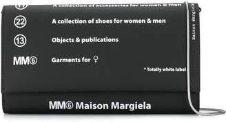 MM6 MAISON MARGIELA numbers logo clutch