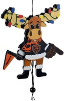 Forever Collectibles Chicago Bears Wooden Moose Christmas Ornament