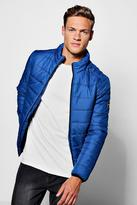 boohoo Zip Through Funnel Neck Quilted Jacket