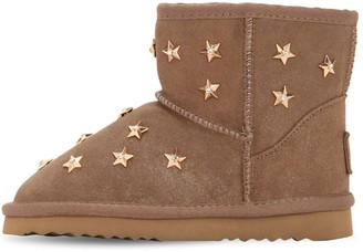 Colors of California Suede Boots W/ Star Appliques