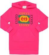 Gucci Fake Print Cotton Sweatshirt Dress