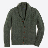 J.Crew Factory Donegal cable-knit cardigan sweater