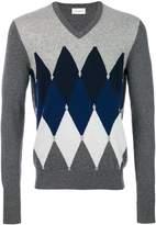 Ballantyne V-neck Argyle sweater