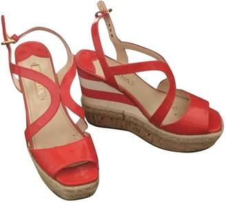 Prada Red Patent leather Espadrilles