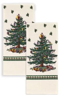 Spode Christmas Tree 2pc Printed Kitchen Towels