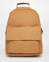 Asos Backpack In Tan Canvas