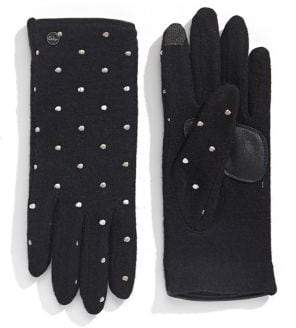 Echo Women's Polka Dot Wool & Cashmere-Blend Gloves