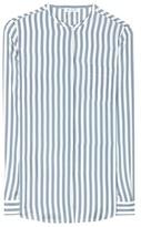 Loro Piana Valerie striped silk blouse