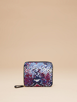 Diane von Furstenberg Small Printed Zip Around Wallet