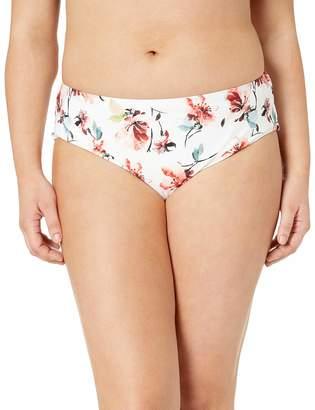 Lucky Brand Women's Plus Size Hipster Bikini Swimsuit Bottom