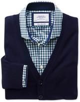 Charles Tyrwhitt Navy merino wool cardigan