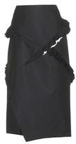 Jil Sander Acacia Ruffled Cotton And Wool-blend Skirt