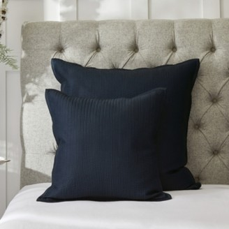 The White Company Hampstead Cushion Cover, Midnight, Large Square