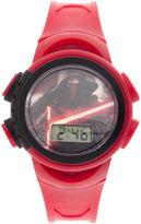 Disney Star Wars Kids Red Plastic Strap Digital Watch