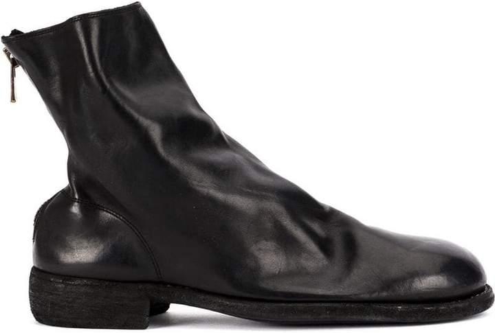 Guidi zip-up fitted boots
