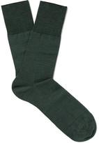 Falke Airport Virgin Merino Wool-blend Socks - Dark green