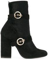 Lanvin buckle detail boots - women - Calf Leather/Goat Skin - 36